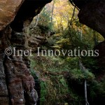 Hocking Hills Rock House Looking Out | Image 3